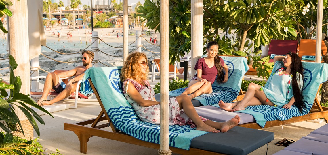Laguna Waterpark Ladies Relaxing In Cabana Boutique Experience